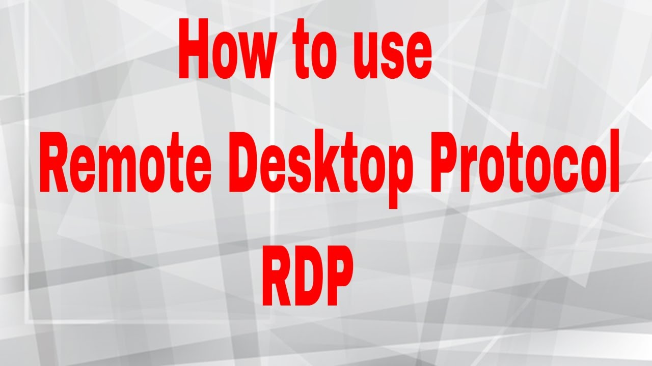 Remote Desktop Protocol - portablecontacts net