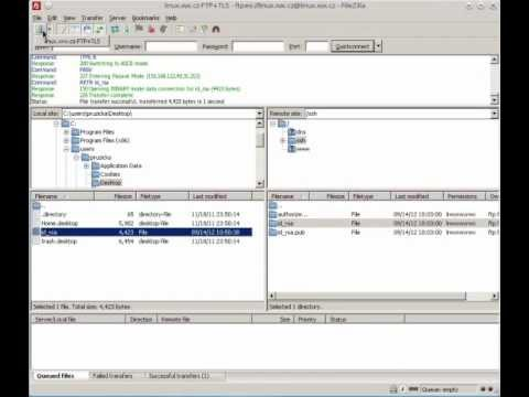 how to create sftp key filezilla
