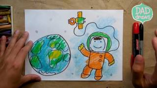 How to draw Astronauts