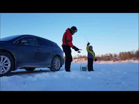 Ice Fishing at Lockport, Manitoba