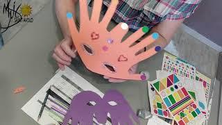 """Atelier bricolage enfant : fabrication d'un masque """"Main"""""""