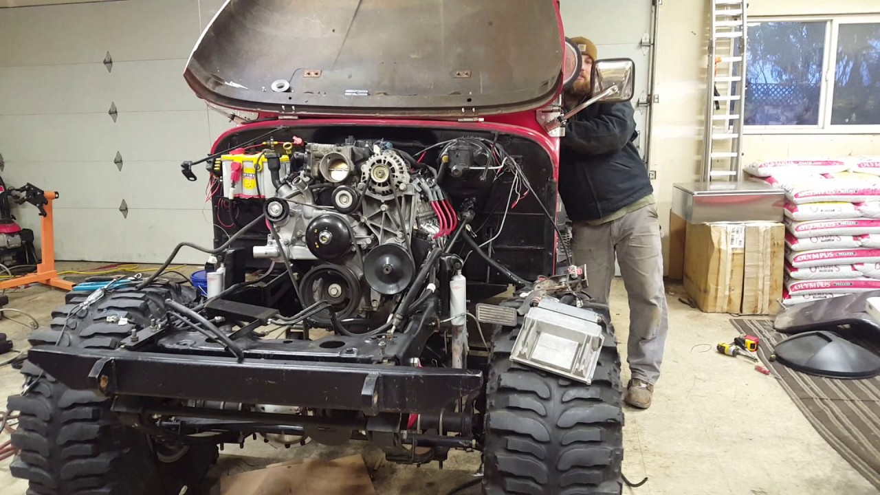 First Start Up Cj7 5 3 Ls Swap
