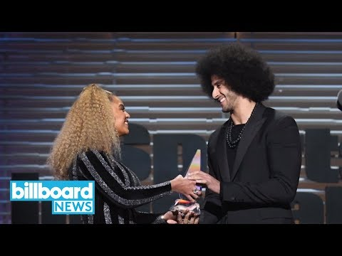 Beyonce Presents Colin Kaepernick With Sports Illustrated Muhammad Ali Legacy Award   Billboard News