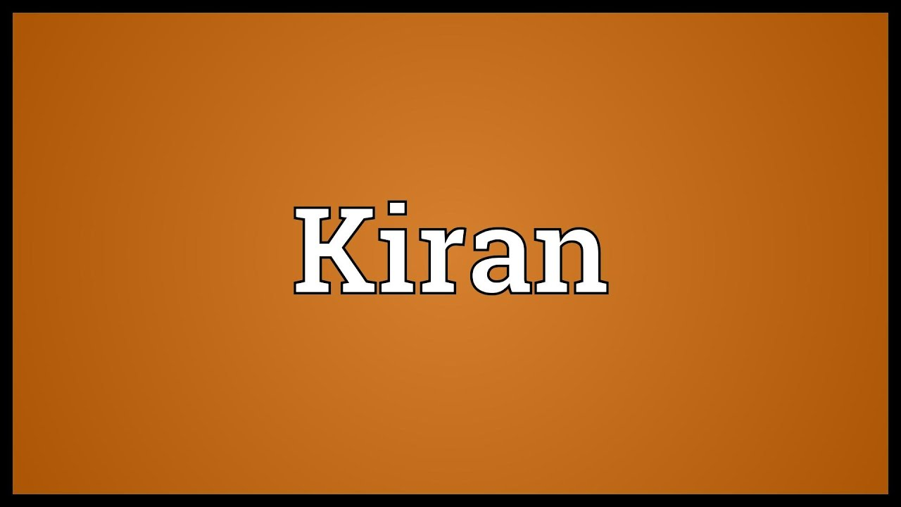 Kiran Meaning Youtube