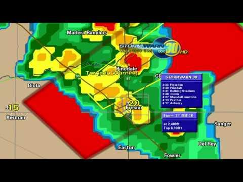 Fresno,CA Tornado Warning EAS Activation