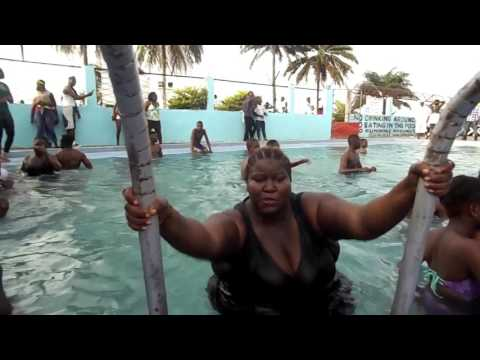 At the pool - 2017 New Liberia Comedy