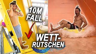 Max vs Chris im Wasserrutschenpark - Wer RUTSCHT schneller ?!   Max und Chris