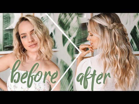 Hair Extensions For Short Hair +  Hairstyles to Blend Extensions - Kayley Melissa thumbnail