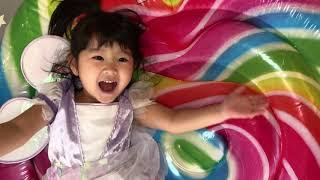 姉妹で♡Five little Babies Jumping on the Bed Nursery Rhymes Kids Song 英語の歌 童謡寸劇