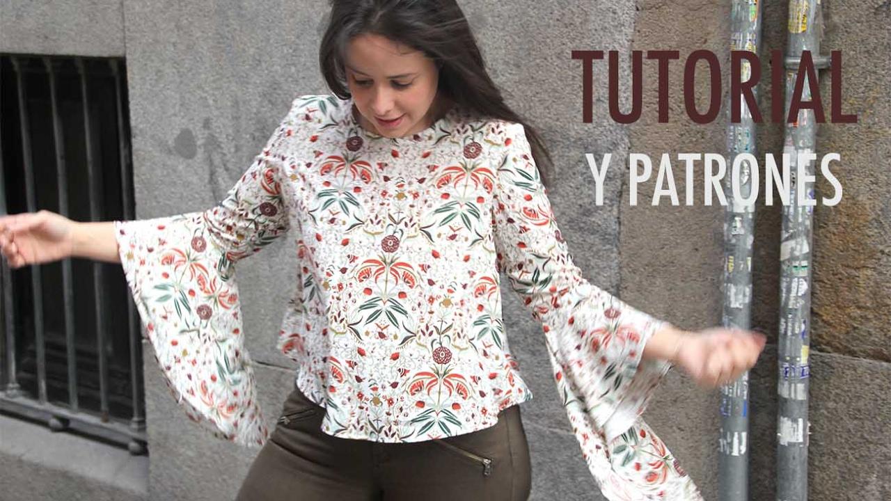 1fe6d2d35c51 DIY Blusa de mujer con manga japonesa (patrones gratis) - YouTube