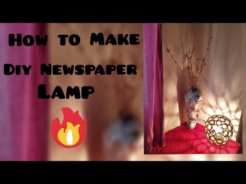 Beautiful Diy Newspaper Lamp