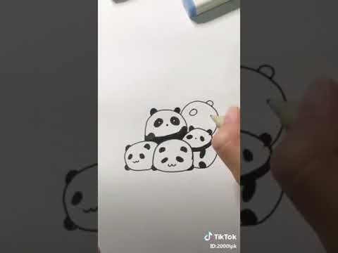 Cách vẽ gấu trúc