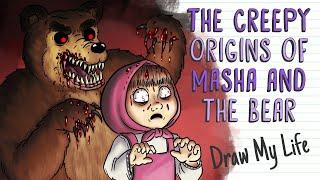 THE CREEPY ORIGINS OḞ MASHA AND THE BEAR | Draw My Life