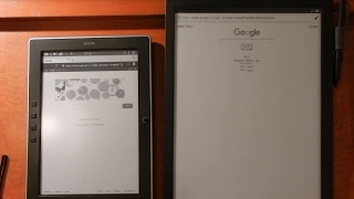 M96 vs Sony Digital Paper (DPT-S1) Internet and PDF Download Review