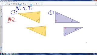 Math 8 - 3.4b - Similar Triangles