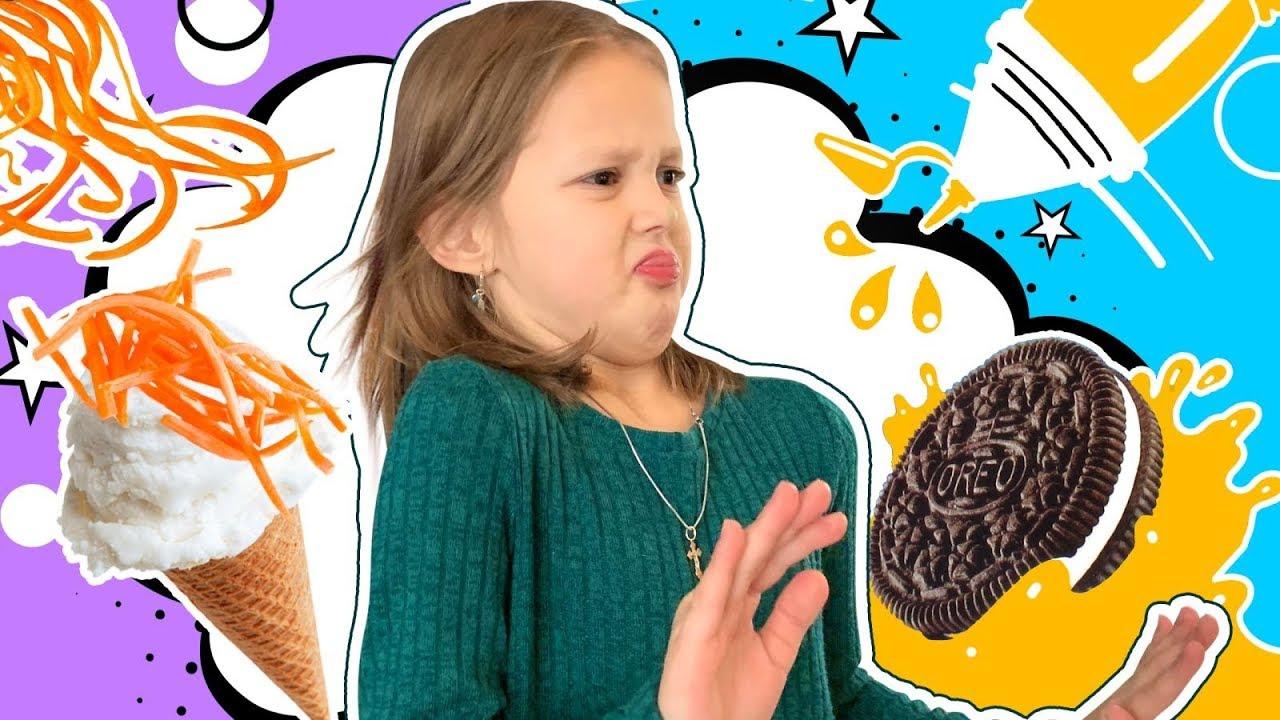 Странный Вкус! Выбирай: съесть или выполнить задание! Что выберет Амелька и Папа?