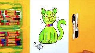 Как нарисовать КОШКУ / рисуем дома с родителями