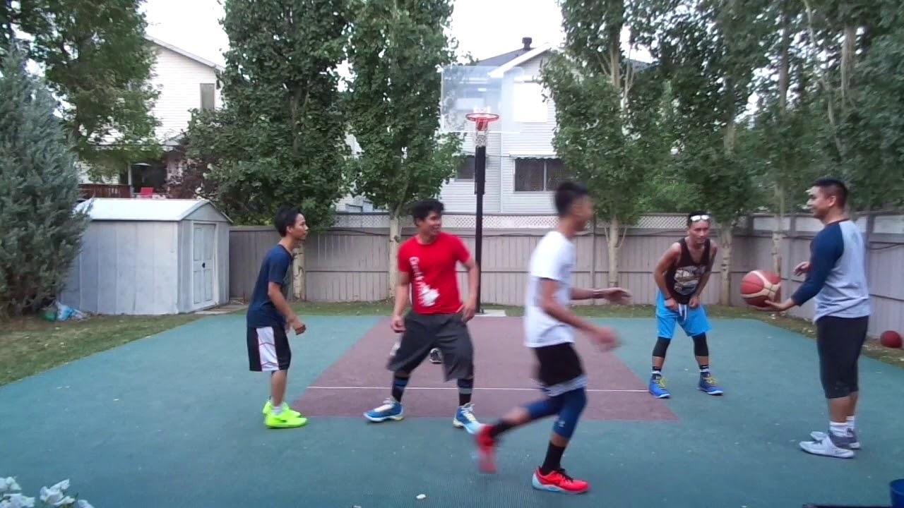 calgary backyard basketball game 6 09 07 17 youtube