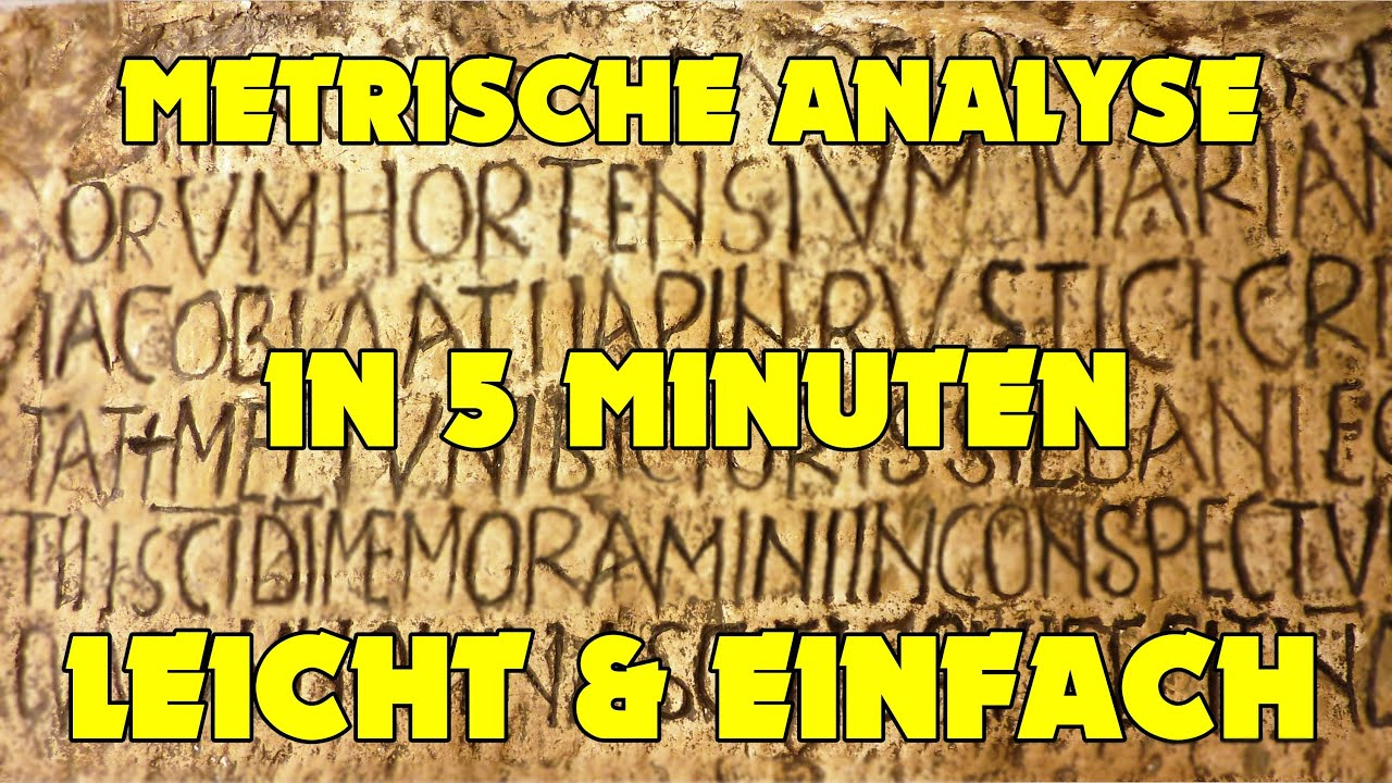 Latein gedichte metrik