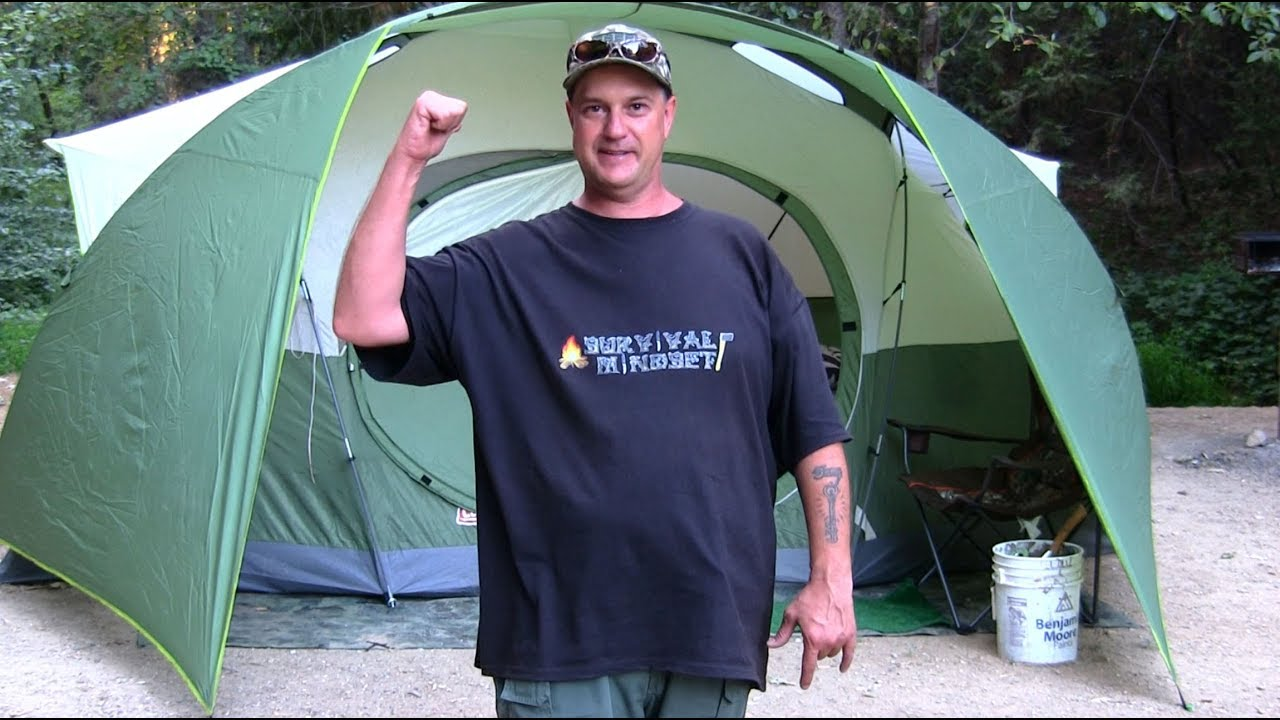Coleman Tucana 8 Person Family Tent Camping Review Youtube