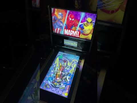 Arcade1up Marvel Pinball: X-men Table Gameplay 60FP from Kelsalls Arcade