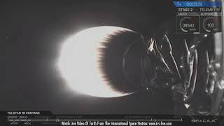 SpaceX Telstar 18V - Launch, Landing and Satellite Separation