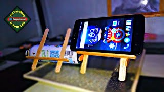 Cara membuat dudukan hp dari stik es krim dengan mudah - DIY