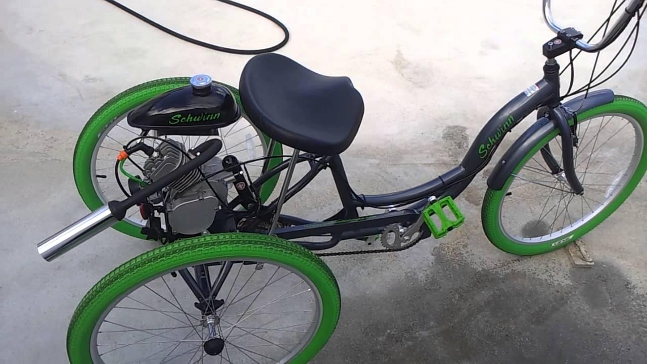 Bicicleta Tricyclo Schwinn Con Motor 80cc Youtube