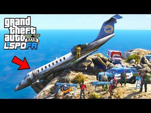Airplane Crash!! Can we save the pilot?? (GTA 5 Mods - LSPDFR Gameplay)
