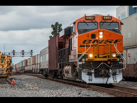4K - Trains at the 2017 Fullerton Railroad Days - CSX & NS P