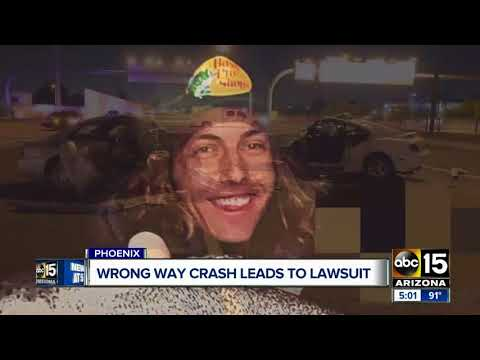 Wrong-way crash in Phoenix leads to lawsuit
