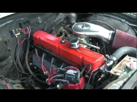 250 chevy inline 6 in 65 Chevelle wagon lump port head - YouTube