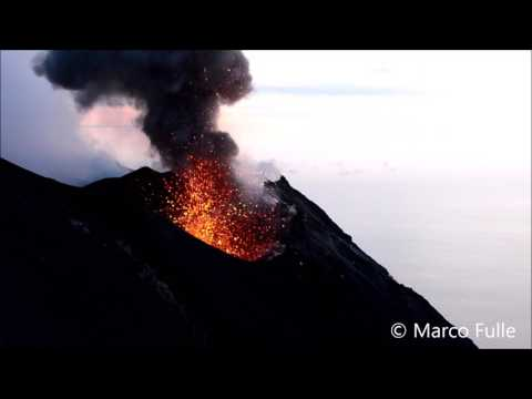 STROMBOLI IN ERUPTION MAY 2017