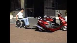 Road Chariot City Wheelchair Motorcycle for Disabled