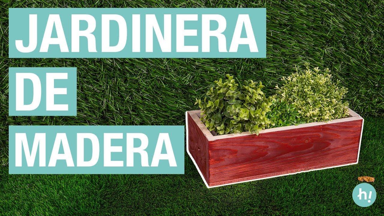 Cómo Hacer Una Jardinera De Madera Handfie Diy Youtube
