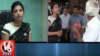 Warangal Urban District Collector Amrapali Visits Enumamula Market Yard | V6 News