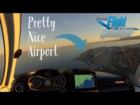 Top 10 Most Scenic Airports - Microsoft Flight Simulator 2020 (Nice Airport)