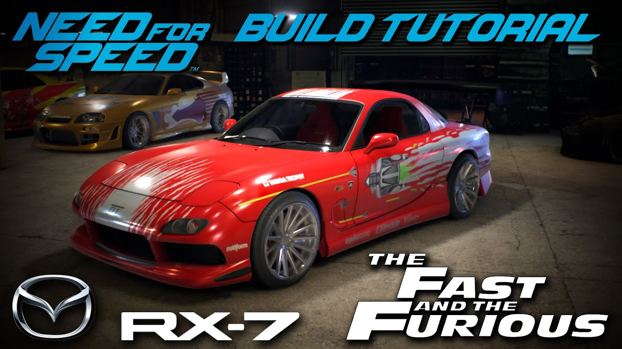 need for speed 2015   the fast & the furious dom's mazda rx7 build