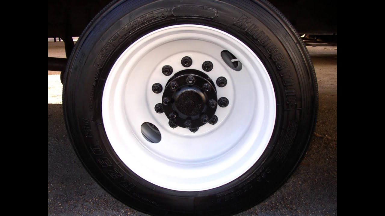 Painting Truck Bus & Trailer Wheels with Tire Mask - YouTube
