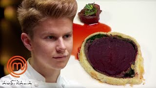 17-Year-Old Star Chef Flynn McGarry's Beet Wellington | MasterChef Australia | MasterChef World