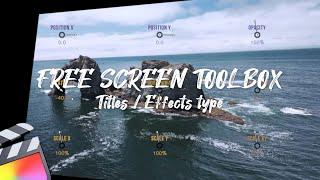 Free Screen Toolbox Final Cut Pro | TIP184. 파이널컷프로 무료 스크린 툴박스