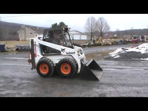 1995 Bobcat 853 Skid Steer Loader Diesel New 66 Bucket For Sale