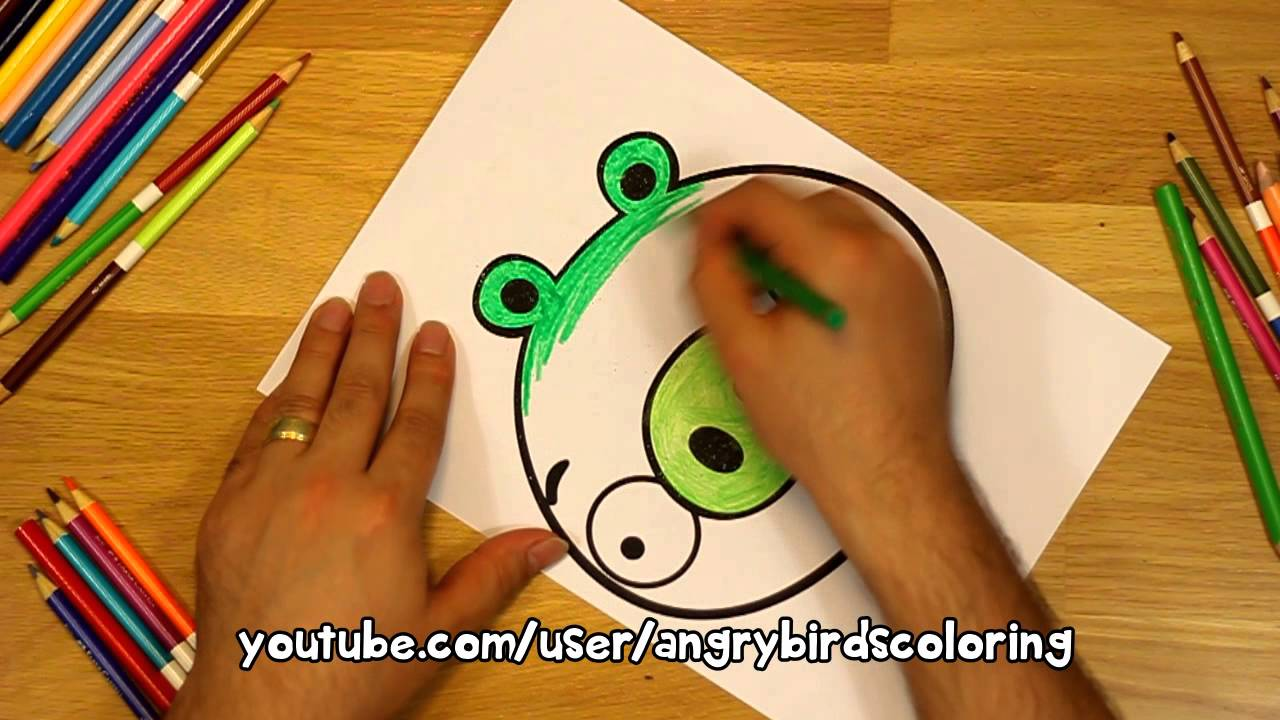 Angry Birds Coloring Minion Pig