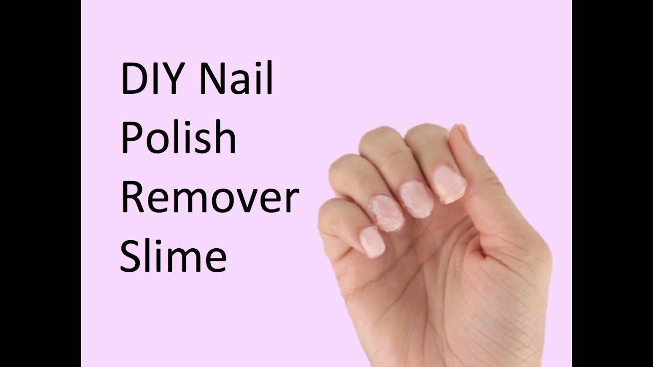 DIY Nail Polish Remover Slime  YouTube