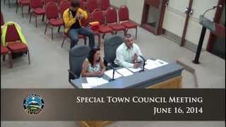 Special Town Council Meeting - June 16, 2014
