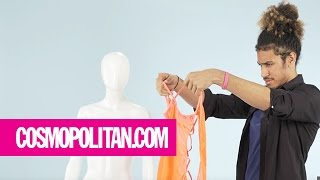 Clueless Guys Figure Out Complicated Lingerie | Cosmopolitan