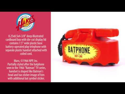 "MARX BOXED ""BATMAN HOT-LINE BATPHONE."""