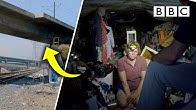 Living in a bridge: Homeless in L.A. | The Americas with Simon Reeve - BBC
