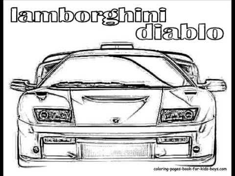 coloringbuddymike lamborghini coloring cars