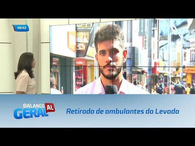 Prefeitura deve fazer a desocupação de ambulantes do bairro da Levada